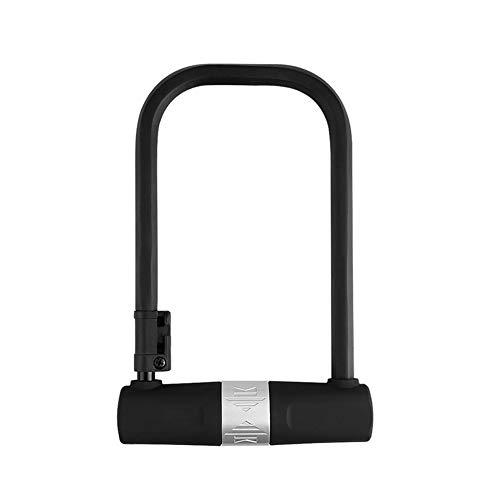 SZPDD Fahrrad-Bügelschloss Diebstahlsicheres tragbares Hochsicherheitsschloss aus Kohlenstoffstahl mit Ständer Schwarz (Tragbare Fahrrad-ständer)