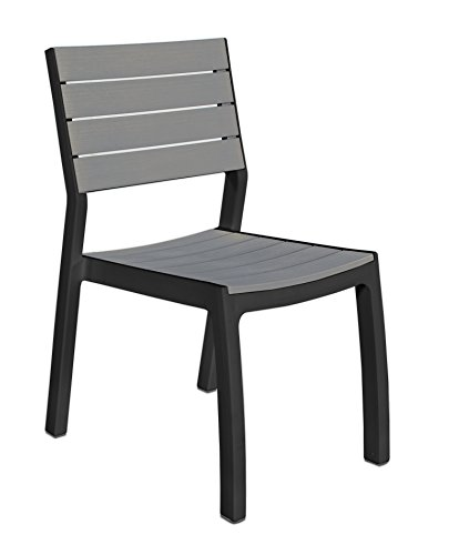 Keter Harmony Outdoor Patio Garden Furniture Armchair Set - Graphite