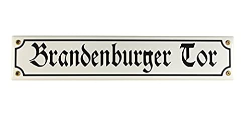 Digger Bini Plaque Sign Brandenburg Gate Berlin Souvenir Email Street