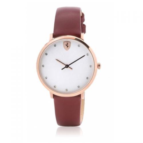 ORIGINALE FERRARI da donna orologio al quarzo/orologio da polso ultraleg Gero Scuderia Rosso/Oro