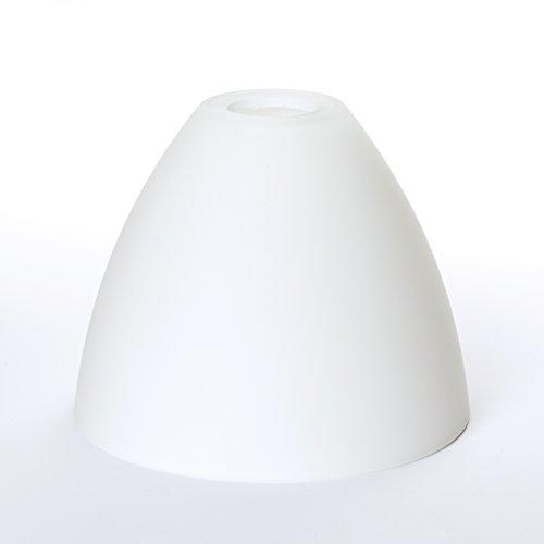 Glas Lampenschirm Ersatzglas weiß E14 Lochmaß Fassung ø 30mm Kegel