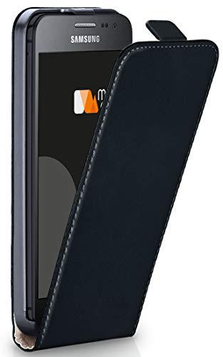 moex® Flip Case mit Magnetverschluss [Rundum-Schutz] passend für Samsung Galaxy Xcover 3 | 360° Handycover aus feinem Premium Kunst-Leder, Schwarz