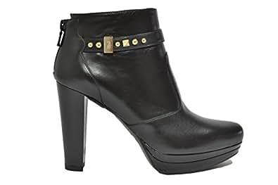 NERO GIARDINI Polacchini scarpe donna nero 9641 elegante mod. A719641DE