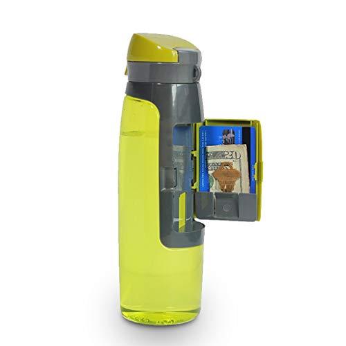 Umleitungs-Safes AXZXC Kleine Stauflasche Verstecktes Geheimnis Sicheres Umleitungsfach In der Getränkeflasche 750 ml Auslaufsichere Sportflasche Wiederverwendbarer Silikonkessel for den Außenbereich -
