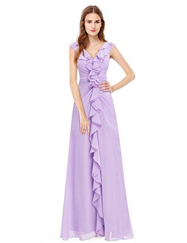 Ever Pretty Robe de soirée longue sans manche drapée 08219 Violet clair