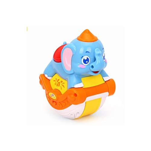 MKJYDM Animal Slider Puzzle para Niños Aprender Temprano Agitar Y Deslizarse con Un Juguete Musical De Elefante, 9x12x15cm Juguetes Inteligentes para niños