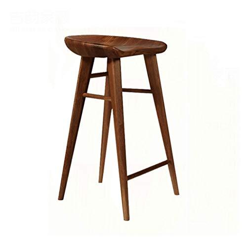 ZDD Massivholz Barhocker Stuhl Esszimmerstuhl Freizeit Hocker Hocker (Farbe : Nussbaum, größe : 40x39x65cm) - Esszimmer Nussbaum Barhocker