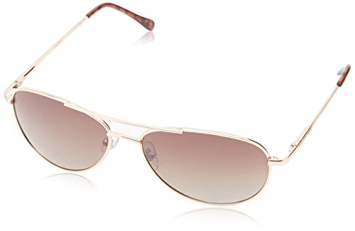 Anarchy Men's Fugitive Polarized Aviator Sunglasses,Pale Gold,58 mm