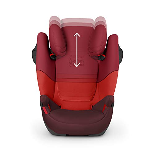 CYBEX Silver Solution M-Fix Child's Car Seat, For Cars with and without ISOFIX, Group 2/3 (15-36 kg), From approx. 3 to approx. 12 years, Rumba Red  Columbus Trading Partners GmbH & Co. KG (formerly Cybex)