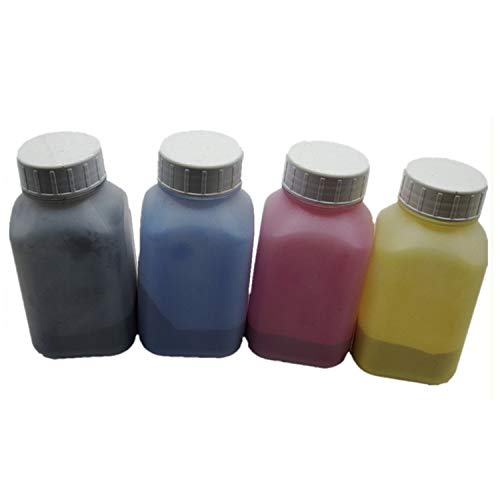 1Set 4Stück 40g/Flasche Refill Color Laser Toner Puder-Kits für Okidata Oki Daten C9600, C9650C9655C9800C 96009650980098509655Laser Drucker (1Schwarz, 1Cyan, 1Magenta, 1Gelb) -