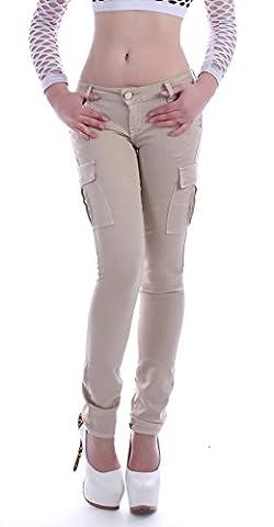 Style-Station24 - Jeans - Cargo - Femme - Beige - W29