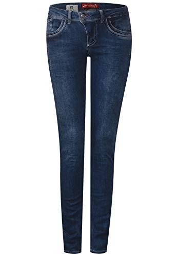 Street One Damen Slim Jeans 371649 York, Blau (Authentic Random Bleach 11551), W30/L32 (Herstellergröße: 30)