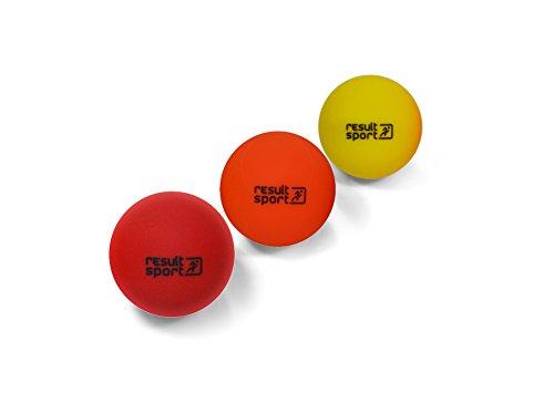 ResultSport® Trigger Point Massage Ball Set, 3Stück (Weich/mittel/hart)–Stress Reflexologie, myofaszial, Gymnastik, Lacrosse