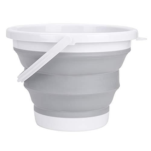 Faltbarer Eimer Kunststoff Tragbarer Haushaltsbehälter 10 Liter Multifunktional Putzeimer für Waschen Haushalts-Reinigung Outdoors Fischen Camping Küche Reise Multifunktional