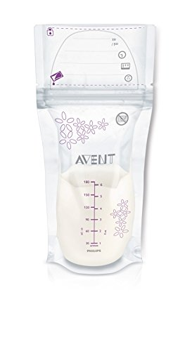 Philips Avent Lot de 25 Sachets de Conservation du Lait Maternel 180ml