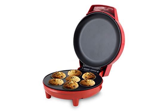 BEPER 90.498 Puddy Cupcake Maker, 900 W, 7 Litri, Alluminio, Rosso