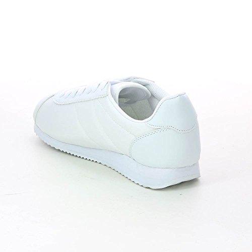 Scarpe sportive basse con lacci ultra-leggero Bianco