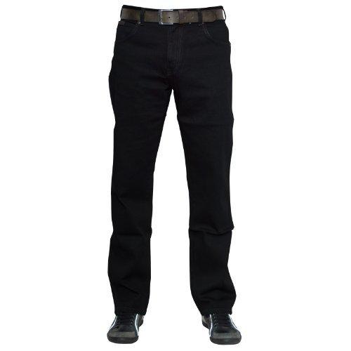 Wrangler Herren Texas Jeans, Tiefschwarz, 34W / 30L (Jean Stretch-straight Fit)