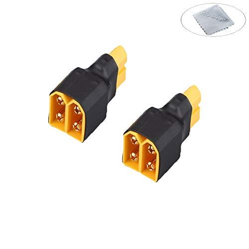 Boladge 2 stücke XT60 Parallel Anschluss Stecker ohne Draht für RC Lipo Batterie (eine weibliche verbinder zu Zwei männlichen stecker Adapter) Batterie-anschluss-adapter