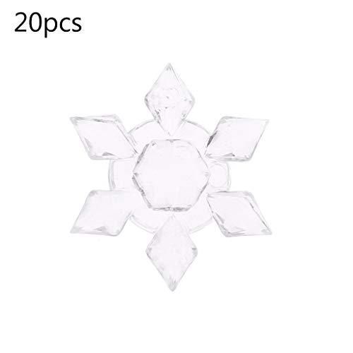 hneeflocken Ornamente, 20 Teile/Paket Weihnachten Schneeflocke Form Acryl DIY Dekorative Handwerk Hängen Dekor ()