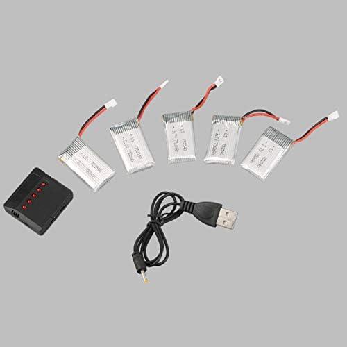 5pcs 3.7V 750mAh 750mAh 750mAh Batterie Lipo Rechargeable avec Chargeur  câble pour SYMA X5C | Des Matériaux Supérieurs  2adfa4