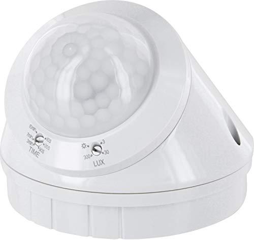 Rilevatore di movimento a infrarossi, 360°, IP65, 230 V, con sensore crepuscolare, per esterni e ambienti umidi, adatto a LED da 1 W