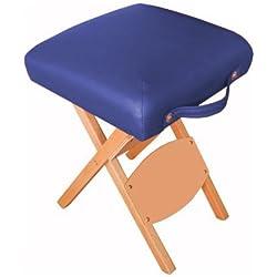Harima - Hades Azul Profesional de peso ligero plegable silla de madera taburete silla para Belleza Spa Cosmética Masaje Terapia Tatuaje Artista Salón Manicura Terapia Deportiva Con ruedas, diseño de mesa Reiki y portátil