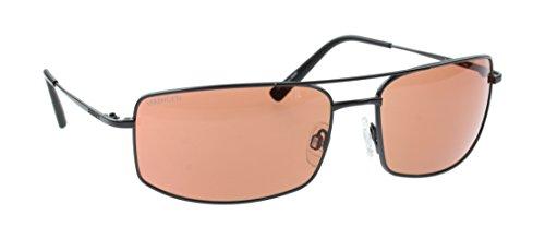 Serengeti Treviso Satin Gunmetal Klassische Sonnenbrille, Treiber Bernstein Radsportler Objektive, Large Fit