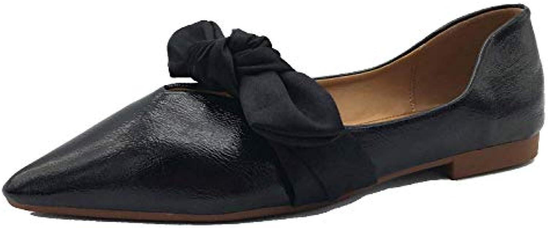 Eeayyygch Automne en Nouvelle Chaussures en Automne Cuir Petites Chaussures Britanniques de Vent Unique Chaussures Casual...B07JMLY55MParent 7281f0