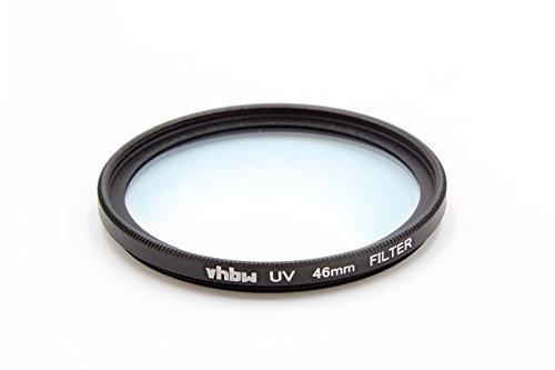 Filtro protector UV universal vhbw 46mm para cámara Panasonic Lumix G 25 mm F1.7, Panasonic Lumix G Macro 30 mm 2.8 Asph OIS.