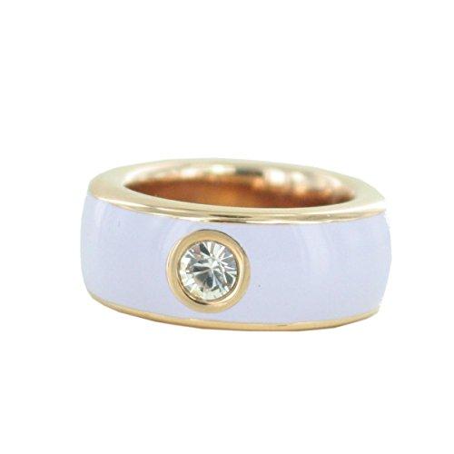 Esprit Damen-Ring Marin JW50727 Edelstahl Glas weiß Brillantschliff Gr. 57 (18.1) - ESRG12194N180