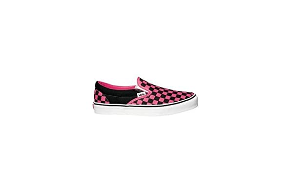 17133cfd3d Vans Classic Slip On Shoes - Black Pink Checkerboard  Amazon.co.uk  Shoes    Bags