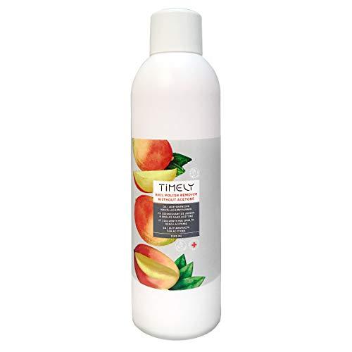 Timely, solvente per unghie senza acetone, con vitamine e e a e proteine della seta, formato piccolo, 1000 ml