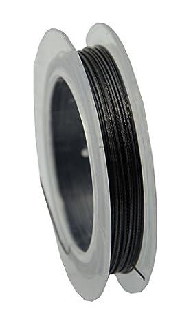 Platinum colour Tiger Tail Wire 100m Spool (2-35)