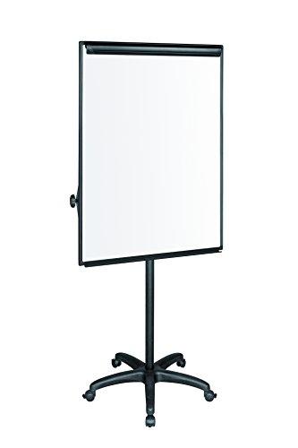 Bi-Office EA4806185 Klassische mobile Flipchart mit Maya Aluminiumrahmen, schwarz