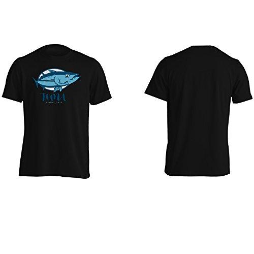 Tonno sempre fresco pesce di novità divertente Uomo T-shirt a711m Black