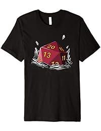 Retro Tabletop Gaming Shirt Fantasie Dragons D20 Würfel