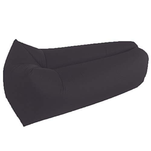 KfeiWO Aire colchón Exteriores Puff Cama Playa Saco de Dormir Mujer Sofa Hinchable Tumbona Hamaca Bebé Impermeable Oxford portátil Plegable Hombre,Negro