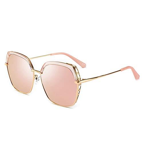 Bunte Polarisierte Sonnenbrille Weibliche Anti-UV-Anti-Glare Kann Verwendet Werden, Um Touristen Fahren, Geeignet Für Eine Vielzahl Von Gesichtstypen Zu Schmücken. (Color : Pink)