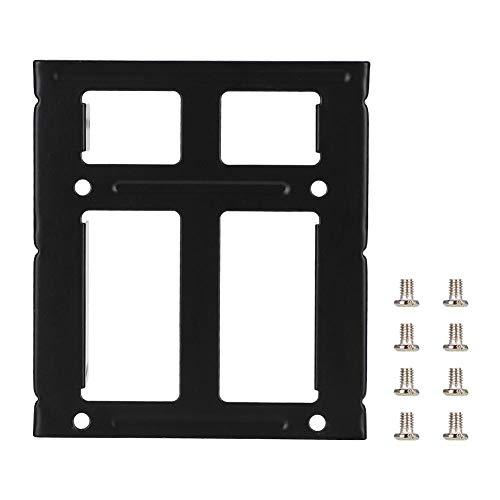 Preisvergleich Produktbild Tonysa Verdicken Sie die zweilagige Festplattenhalterung,  2, 5 bis 3, 5-Notebook-Laptop-SSD-Einschub mit Schrauben für 2, 5-Zoll-Notebook-Festplatten,  2, 5-Zoll-SSD-Solid-State-Laufwerk