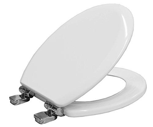 Bemis Chicago 5000qcelt000Slow Close Toilettensitz aus Formholz mit Take Off und-Tite Sichere Fixierung System-weiß - Wc-scharnier Bemis