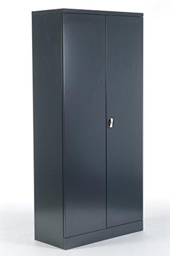 Stahlschrank/Aktenschrank Anthrazit 195 x 92 x 42 - KOMPLETT MONTIERT - Aktenschränke Komplett Montiert