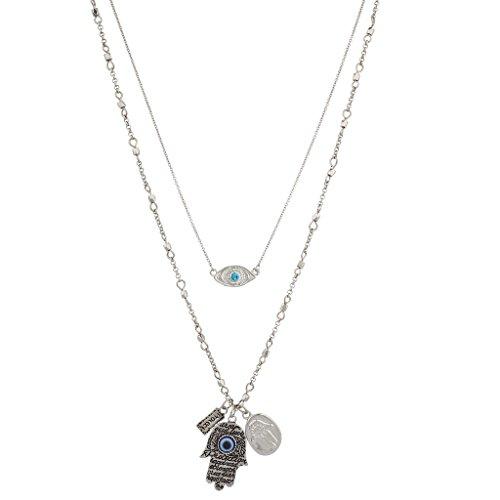 lux-accessori-boho-burnish-occhio-greco-argento-e-hamsa-layered-collana