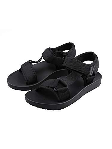Sandalias para Mujer Sandalias Plataforma de Punta abierta para Mujeres Zapatos para Mujeres 38_ Botón T Negro