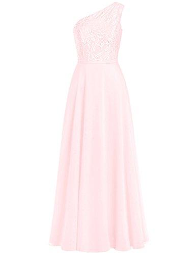 HUINI Damen Modern Kleid Light_Pink