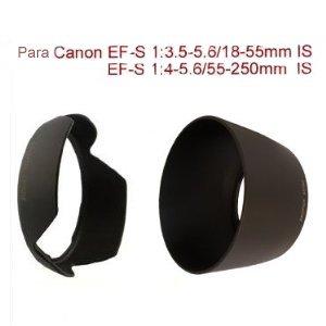 Sonnenblendenset von PROFOX für Canon Standard Objektive EF-S 1:3.5-5.6/18-55mm (IS) II und EF-S 1:4-5.6/55-250mm IS z.B. EOS 300D 350D 400D 450D 500D 550D 600D 650D 1000D 1100D 1200D u.a. - Bitte Hinweis beachten -
