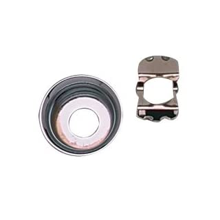 Allparts Telecaster Input Jack Plate Cup, Chrome