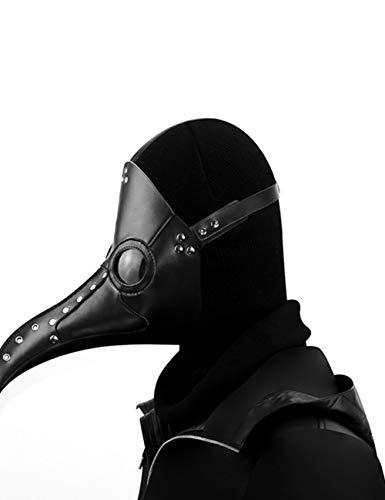 Teufel Beängstigend Frauen Kostüm - Horror Halloween, Steampunk Scharfen Mund Beängstigend Cosplay Zombie Teufel Pest Maskerade Party Kostüm Maske,A101