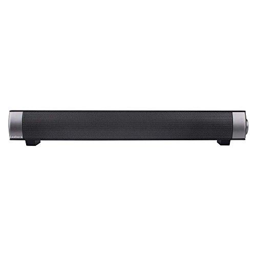 Leshare Sound Bar IP-08 Bluetooth 3.0 mini 2-ch 10W Haut-parleurs sans fil portables stéréo avec recharge de subwoofer 3.7V 2000mAH Batterie Microphone Prise casque pour PC Ordinateurs de bureau pour ordinateur portable Téléviseur