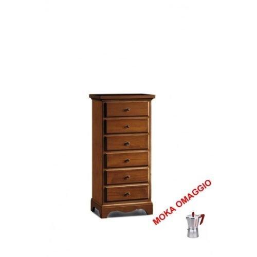 L'aquila design arredamenti classico cassettiera mobile 6 cassetti arte povera soggiorno sala ingresso 526 50x35x105